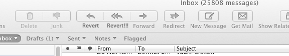 Revert Email buttons